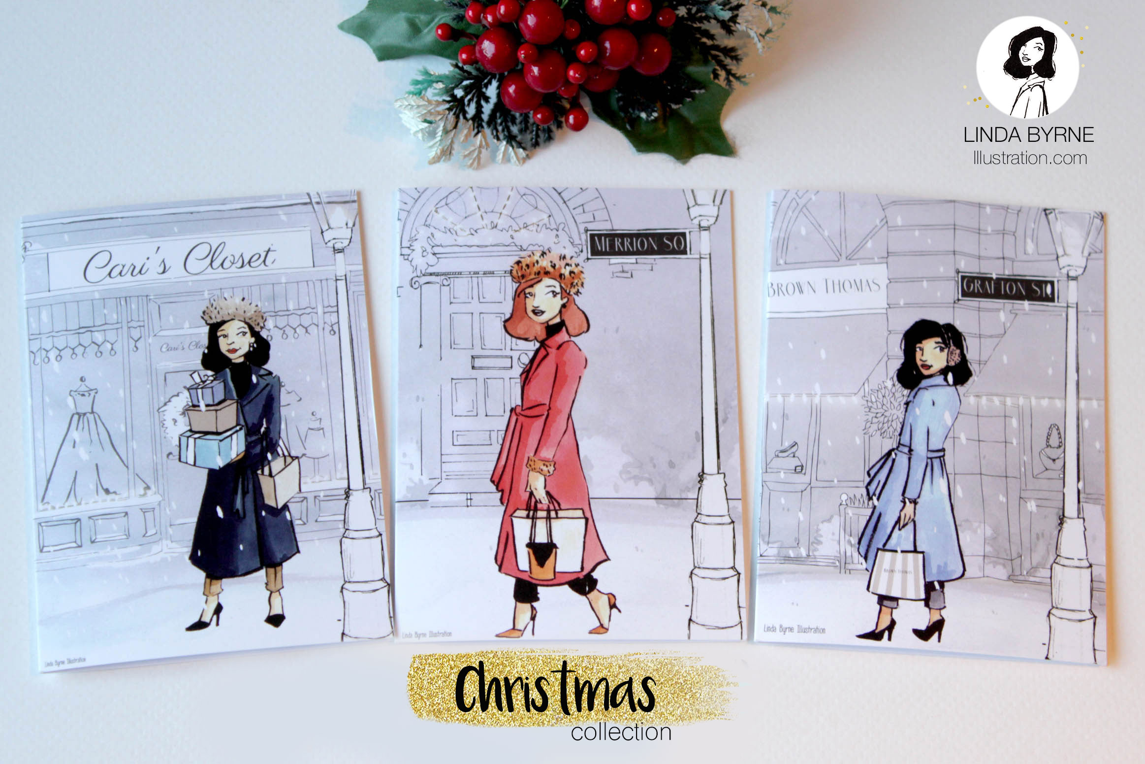 Product Launch Christmas Greeting Card Collection Linda Byrne